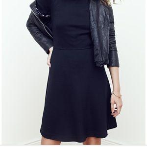 Madewell Gallerist Ponte Dress in Black